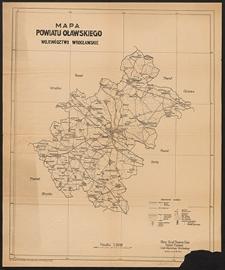 Mapa powiatu oławskiego : województwo wrocławskie