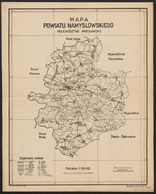 Mapa powiatu namysłowskiego : województwo wrocławskie