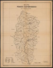 Mapa powiatu złotoryjskiego : województwo wrocławskie