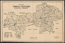 Mapa powiatu milickiego : województwo wrocławskie