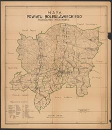 Mapa powiatu bolesławieckiego : województwo wrocławskie