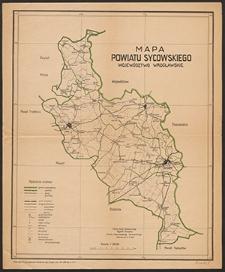 Mapa powiatu sycowskiego : województwo wrocławskie