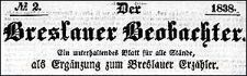 Der Breslauer Beobachter. Ein unterhaltendes Blatt für alle Stände, als Ergänzung zum Breslauer Erzähler. 1838-08-30 Jg. 4 Nr 104