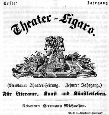 Breslauer Theater-Zeitung Theater-Figaro. Für Literatur, Kunst und Künstlerleben 1839-12-12 Jg.10 Nr 291