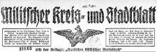 Militscher Kreis- und Stadtblatt 1922-10-25 Jg.84 Nr 85
