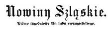 Nowiny Szląskie. Pismo tygodniowe dla ludu ewangelickiego. 1884-04-19 Rok 1 Nr 14
