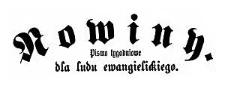 Nowiny. Pismo tygodniowe dla ludu ewangelickiego. 1887-01-07 Rok 4 Nr 1