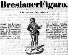 Breslauer Theater-Zeitung Bresluer Figaro Für Literatur Kunst Conversations- und Künstlerleben Breslauer Figaro 1844-01-02 Jg.15 Nr 1