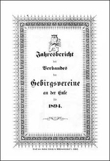 Jahresbericht des Verbandes der Gebirgsvereine an der Eule für 1894