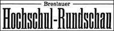 Breslauer Hochschul-Rundschau. Zeitschrift zur Pflege des korporativen Lebens und Verkündigungsblatt der Verbindungen und Vereinigungen an den Breslauer Hochschulen 1916-01-22 Jg.7 Nr 1