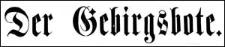 Der Gebirgsbote 1885-10-23 [Jg.37] Nr 85