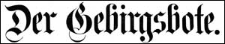 Der Gebirgsbote 1888-11-20 [Jg.40] Nr 93