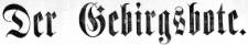 Der Gebirgsbote 1874-10-30 [Jg.26] Nr 85