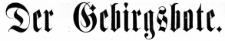 Der Gebirgsbote 1884-10-31 [Jg.36] Nr 88