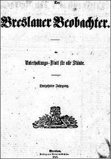 Breslauer Beobachter. Ein Unterhaltungs-Blatt für alle Stände. 1847 Jg. 13