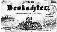 Breslauer Beobachter. Ein Unterhaltungs-Blatt für alle Stände. 1848-01-01 Jg. 14 Nr 1