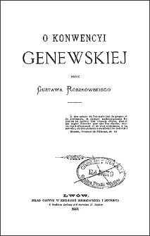 O konwencyi genewskiej