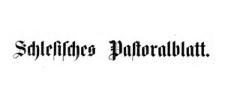 Schlesisches Pastoralblatt 1901-01-01 Jg. 22 Nr 1