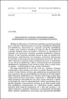 Dwie kwestie z zakresu odpowiedzialności spadkobiercy za zachowek w kodeksie cywilnym