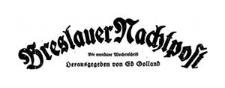 Breslauer Nachtpost. Die mondäne Wochenschrift [1922] Jg. 1 Nr 17