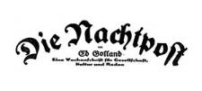 Die Nachtpost. Eine Wochenschrift für Gesellschaft Kultur und Moden [1926] Jg. 5 Nr 7