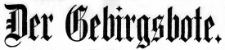 Der Gebirgsbote 1918-12-04 [Jg. 68] Nr 137