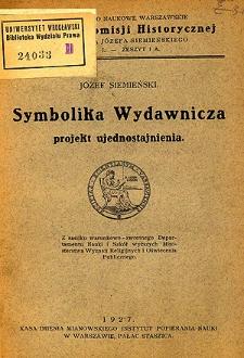 Symbolika wydawnicza : projekt ujednostajnienia