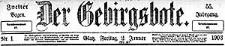 Der Gebirgsbote. 1903-01-02 Jg. 55 Nr 1