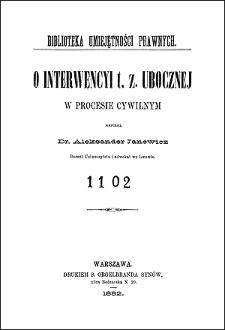 O interwencyi t. z. ubocznej w procesie cywilnym