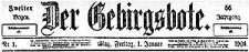 Der Gebirgsbote. 1904-10-25 Jg. 57 Nr 86