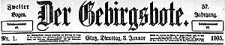 Der Gebirgsbote. 1905-10-20 Jg. 58 Nr 84