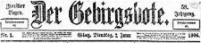 Der Gebirgsbote. 1906-01-02 Jg. 58 Nr 1