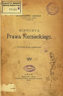 Historya prawa niemieckiego