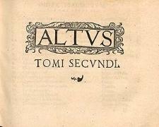 Tomus secundus psalmorum selectorum, quatuor et plurium vocum.
