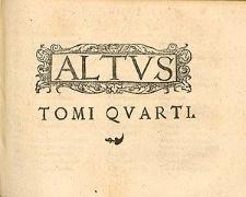 Tomus quartus psalmorum selectorum quatuor et plurium vocum.