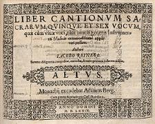 Liber cantionum sacrarum, quinque et sex vocum [...] Altus