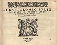 Di Bartolomeo Sorte Padovano il secondo libro de madrigali a cinque voci [...] / Tenor