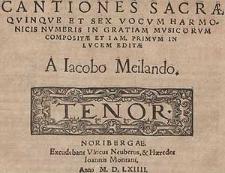 Cantiones sacrae quinque et sex vocum harmonicis numeris in gratiam musicarum [...] Tenor