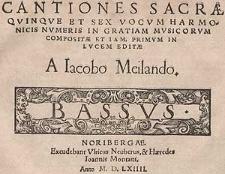 Cantiones sacrae quinque et sex vocum harmonicis numeris in gratiam musicarum [...] Bassus