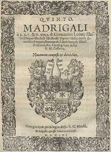 Madrigali à 5. 6. 7. & 8. voci [...] Quinta vox