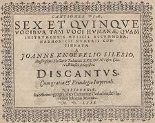 Cantiones piae sex et quinque vocibus, tam voci humae [...] Discantus