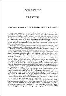 Doktorat honoris causa dla profesora Stanisława Grodziskiego