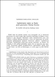 Ogólnokrajowe zjazdy na Śląsku przed panowaniem Macieja Korwina : ze studiów nad genezą śląskiego sejmu