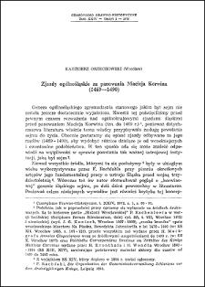 Zjazdy ogólnośląskie za panowania Macieja Korwina : (1469-1490)