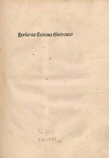 Historia destructionis Troiae