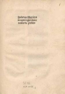 Historia Alexandri Magni / Latina rerum enarratione Leonis archipresbyteri.