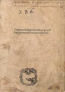 Orationes et poemata / Ed. Iodocus Badius Ascensius.
