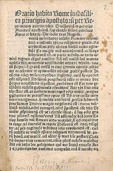 Oratio super electione Innocentii VIII habita 26 VIII 1484.