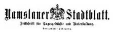 Namslauer Stadtblatt. Zeitschrift für Tagesgeschichte und Unterhaltung. 1884-11-15 Jg. 13 Nr 90
