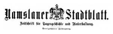 Namslauer Stadtblatt. Zeitschrift für Tagesgeschichte und Unterhaltung. 1884-12-16 Jg. 13 Nr 99